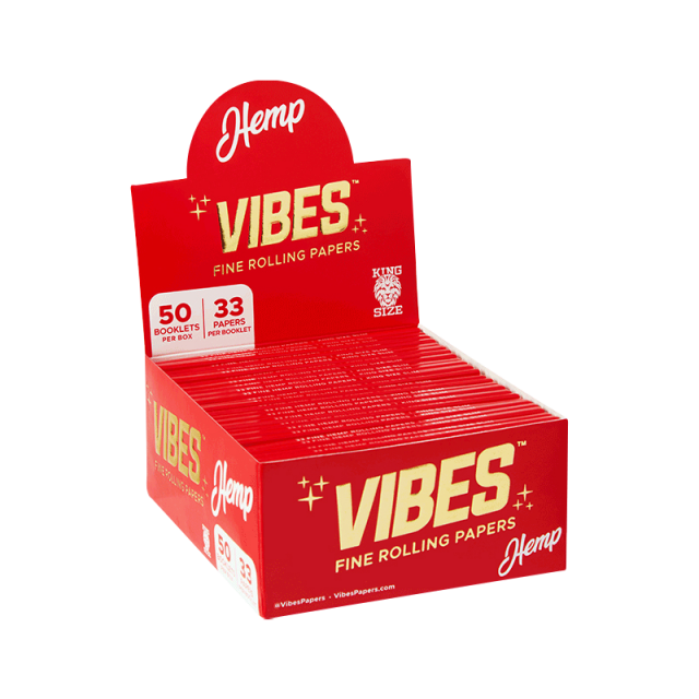 Vibes Rolling Papers Rice King Size Slim 50-Pack Wholesale