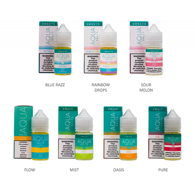 Aqua Salts Collection 30mL Wholesale
