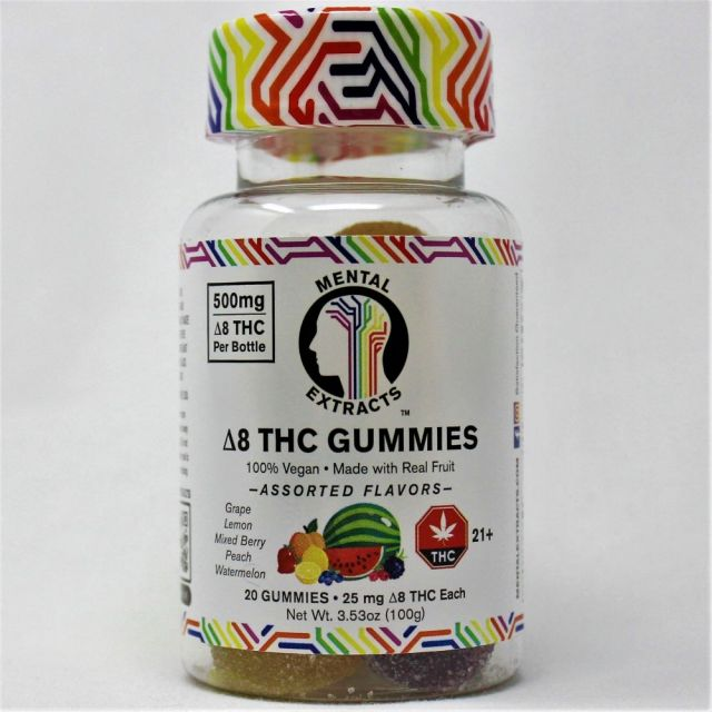 Mental Extracts Delta 8 Gummies 20-Pack
