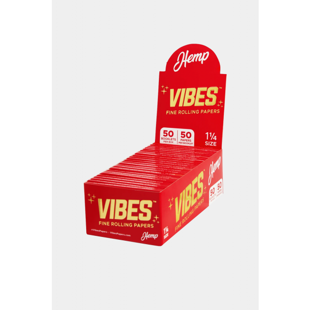 """Vibes Rolling Papers Hemp 1 1/4"""" 50-Pack Wholesale Wholesale"""