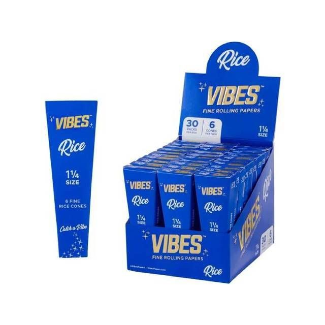 """Vibes Cones Rice 1 1/4"""" 30-Pack Wholesale"""